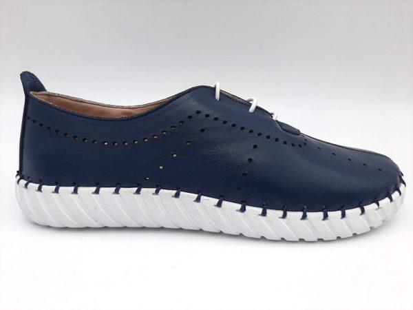 20210319 104544 Мокасины женские синие модель 169/374