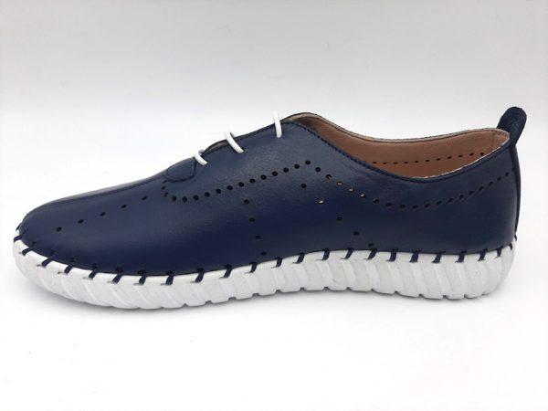20210319 104549 Мокасины женские синие модель 169/374