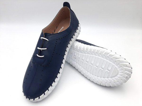 20210319 104601 Мокасины женские синие модель 169/374